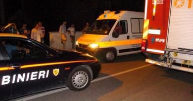 carabinieri cc 112 ambulanza 118 sera notte