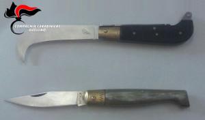 avellino carabinieri cc 112 coltelli serramanico