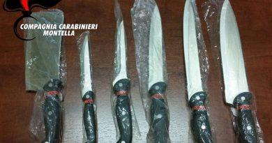 avellino montella carabinieri cc 112 coltelli