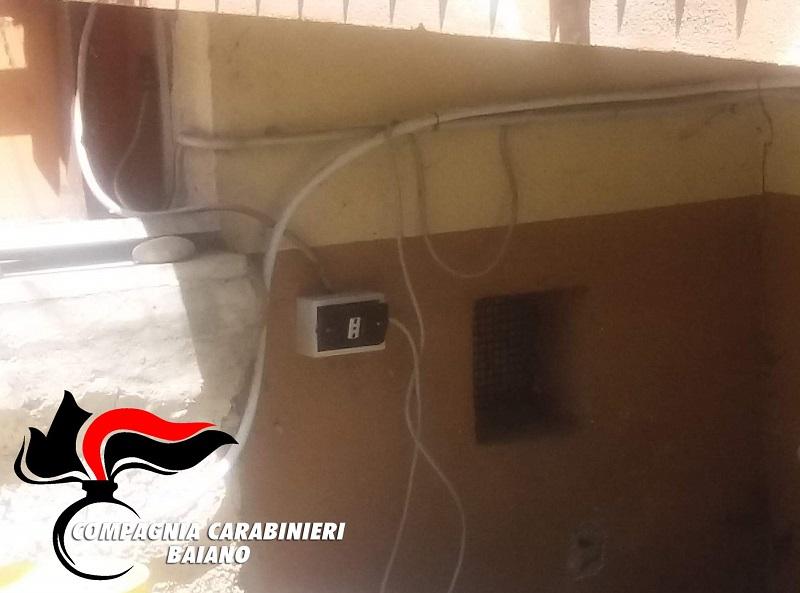 avellino baiano carabinieri cc 112 cavo elettrico