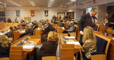 Una veduta del Consiglio regionale della Campania prima del voto sulla mozione di sfiducia presentata dal centrodestra contro il governatore Vincenzo De Luca, Napoli, 29 gennaio 2016. ANSA/CESARE ABBATE