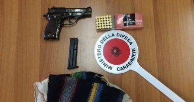carabinieri cc 112 pistola 7.65 munizioni