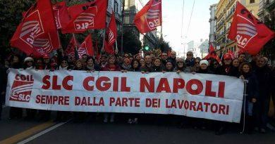 lavoratori sciopero Slc Cgil Campania