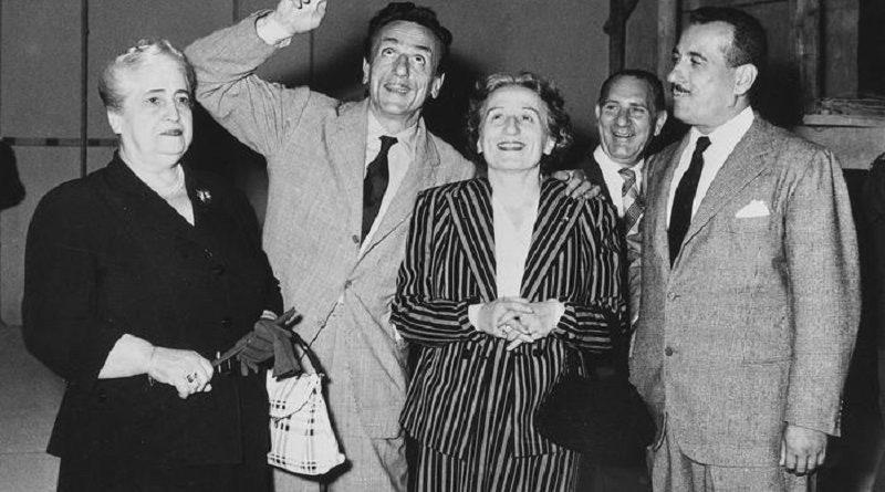 Vittoria Crispo, Eduardo, Titina e Peppino De Filippo (Foto archivio Carbone)