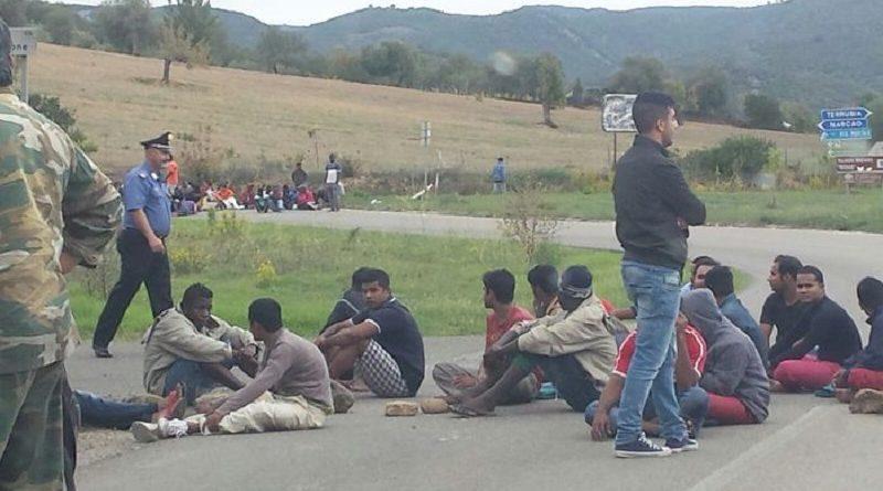 Protesta migranti a Narcao