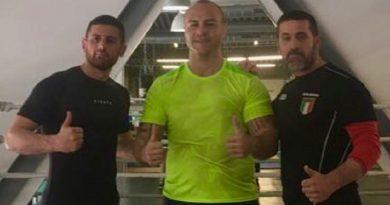 Caserta. Giovanni Improta e Sergio Romano: allenamento insieme al Tatanka Club