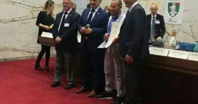 Casaluce. Francesco Torrombacco premiato dall'Unione Nazionale Veterani dello Sport