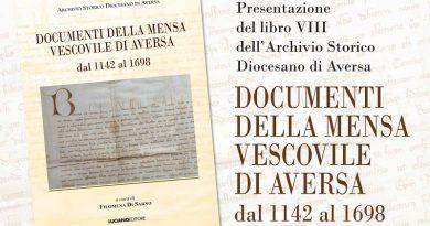 Aversa. 'Mensa Vescovile Aversa 1142 – 1698', lunedì presentazione dell'ottavo libro