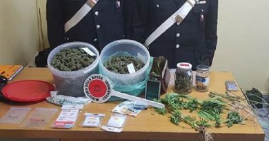 Caianello. Marijuana in casa: 17enne finisce in carcere