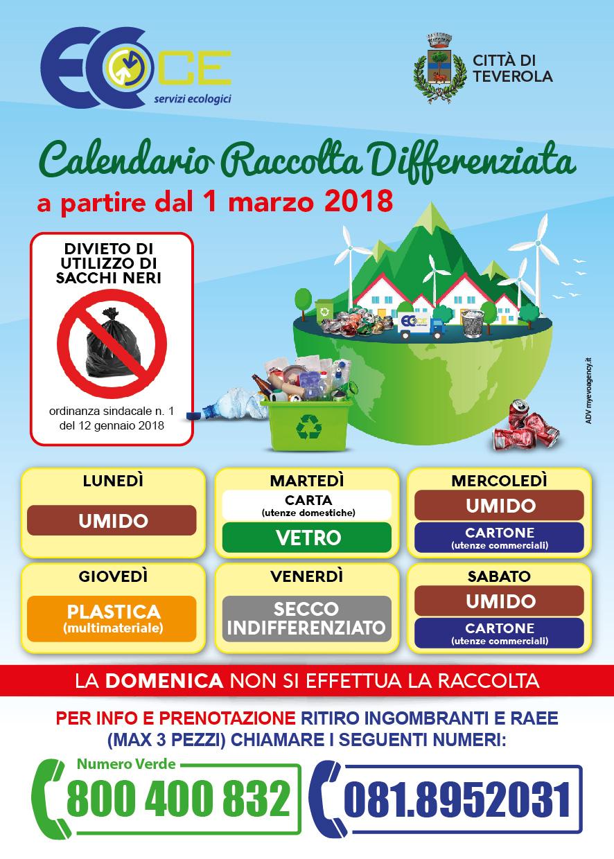 Calendario Raccolta Differenziata Napoli.Teverola Raccolta Differenziata Dal 1 Marzo Il Nuovo